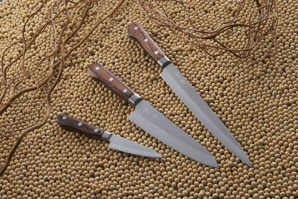 Kokkekniv 210mm, suncraft clad, kokkekniv clad, as-03, clad gyuto 210,